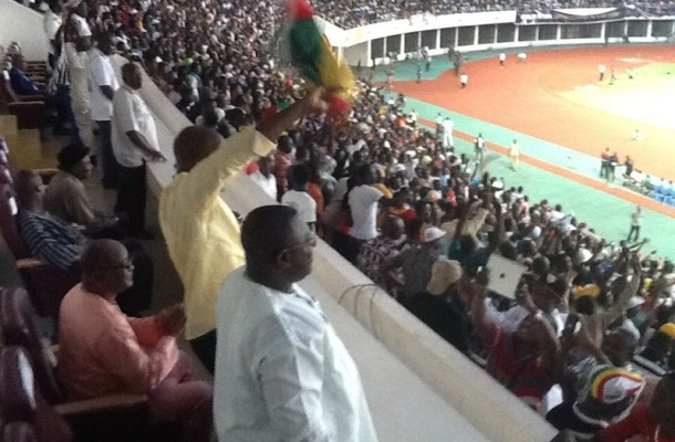 HON. MINISTER FOR YOUTH & SPORTS CELEBRATES BLACK STAR'S VICTORY