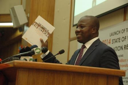 HON. AYARIGA LAUNCHES 2014 WORLD POPULATION REPORT