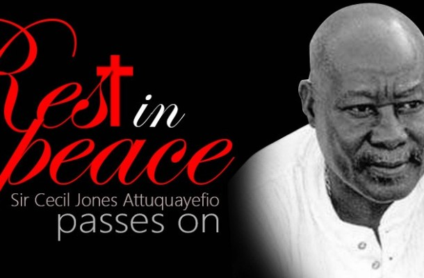 MESSAGE OF CONDOLENCE TO THE FAMILY OF THE LATE SIR CECIL JONES ATTUQUAYEFIO