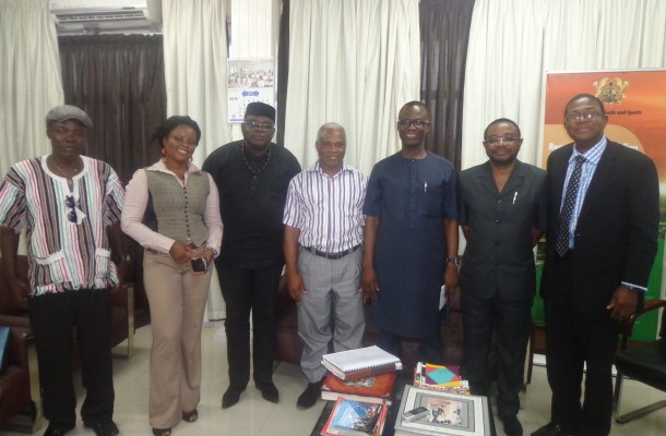 GHANA BOXING ASSOCIATION (GBA) PAYS COURTESY CALL ON MINISTER