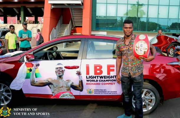 Government Rewards Richard Commey for annexing World IBF Lightweight Title