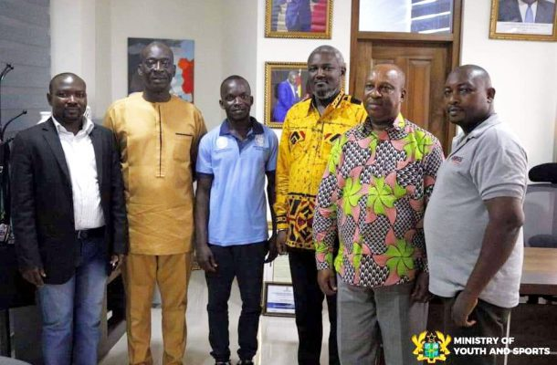 Ghana Deaf Sports Federation Pays Courtesy Call on Deputy Minister