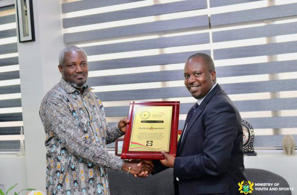 Ministry of Youth and Sports Receives lead Donor Recognition from the Head of State Award Scheme