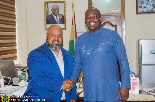 The NBA Vice President For Africa Pays Courtesy Call on The Sports Minister