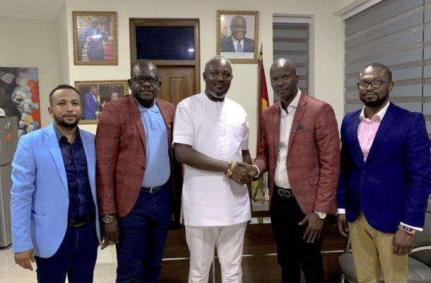 President of The Pan African Youth Union Calls on The Deputy Minister of Youth and Sports